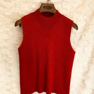 Charter Club Large Red Sleeveless Blouse